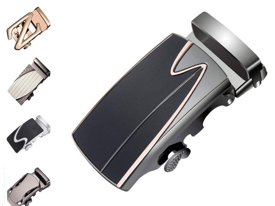 Genuine Men Belt Head Belt Buckle Leisure Belt Head Business Accessories Automatic Width 3.5CM Luxury Fashion Plastic Buckle