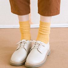Winter new womens thick warm high quality fashion color cotton casual socks