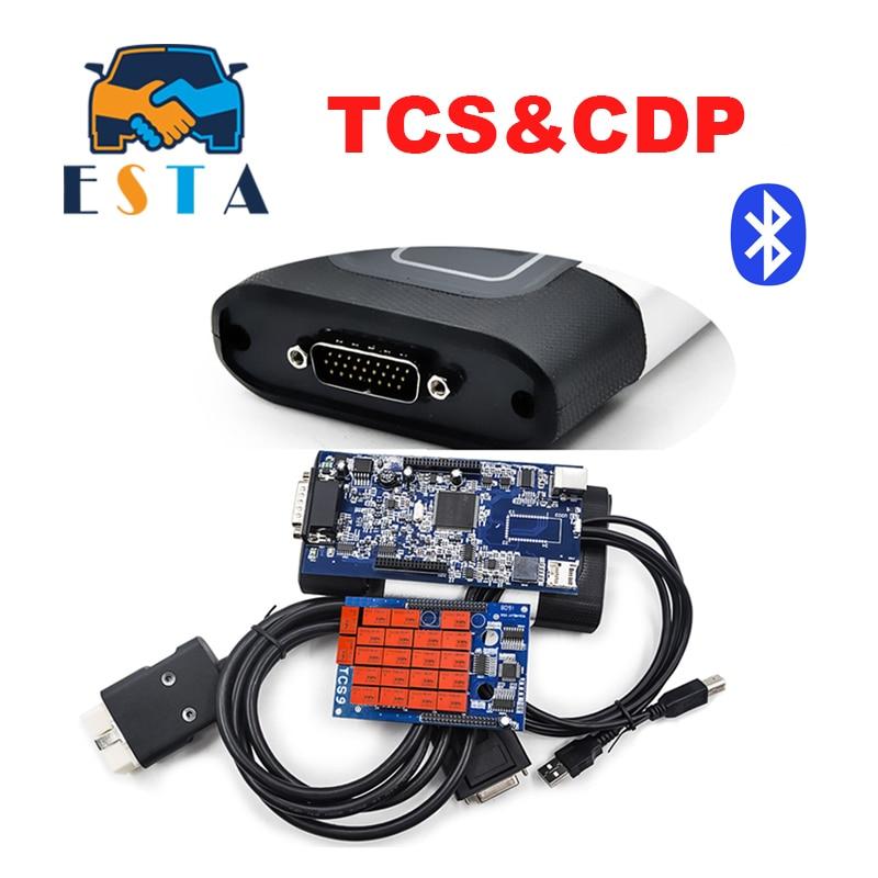 Цена за TCS Pro Plus + Последние 2014. R2/R3 Бесплатная активированный со светодиодной и функция полета TCS OBD2 OBDII Авто сканер Бесплатная доставка