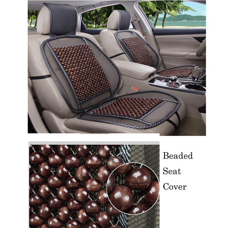 Natural Wood Bead Car Seat Covers Universal Four Seasons Auto Cushion Fits Home Or Office In Automobiles From Motorcycles On