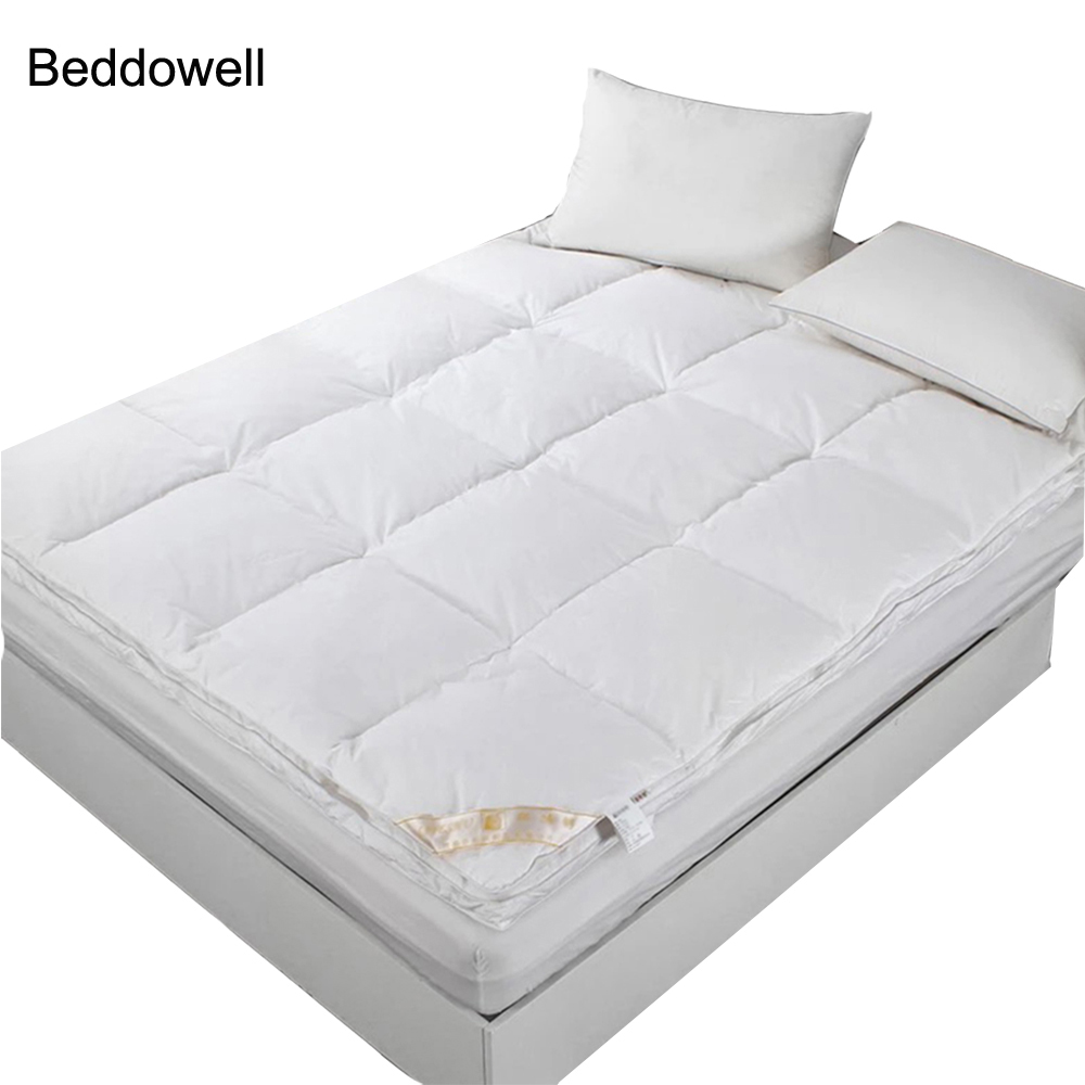 5CM Thickness Microfiber Plush Feather Down Filling Hotel Mattress Solid Single Double Twin Queen King Size Sleeping Mattress5CM Thickness Microfiber Plush Feather Down Filling Hotel Mattress Solid Single Double Twin Queen King Size Sleeping Mattress