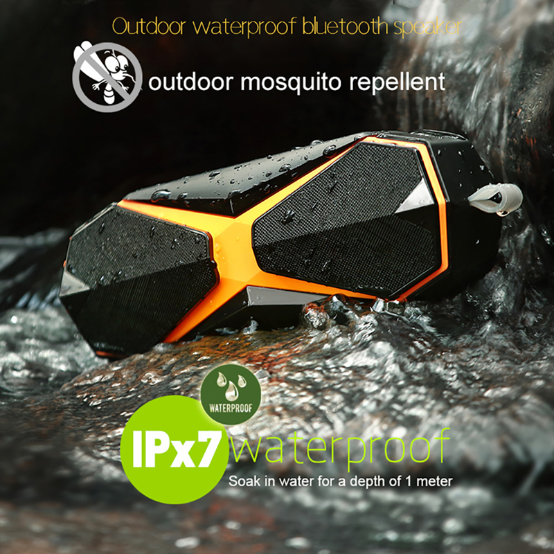 IPX7 Outdoor Waterproof Wireless Bluetooth Speaker Portable Outdoor Repellent Speaker Stereo Loudspeaker Bass Subwoofer цена