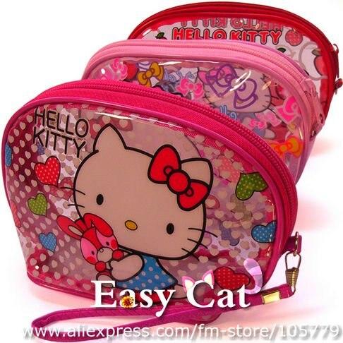 57c843b4e01a Hello Kitty Clear Cosmetic Bag Wash Bag Toilet Bag Portable Wallet Storage  coin bag organizer bag