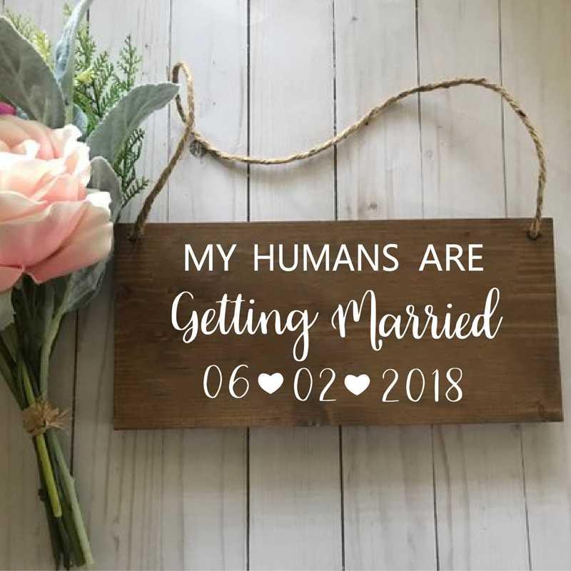 Персонализированные виниловые наклейки на свадьбу со съемным изображением животных, собак, домашних животных
