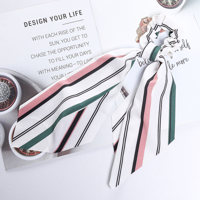 Levao fleur impression cheveux écharpe arc chouchous queue de cheval bandeau pour femmes cheveux accessoires nœud papillon élastique cheveux corde bandeaux 14