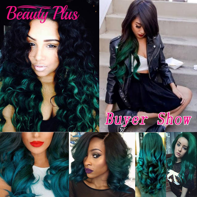 1bgreen ombre hair extensions 7a ombre brazilian human hair weave 1bgreen ombre hair extensions 7a ombre brazilian human hair weave bundles 3 pcs teal ombre two tone brazilian body wave hair in hair weaves from hair pmusecretfo Gallery