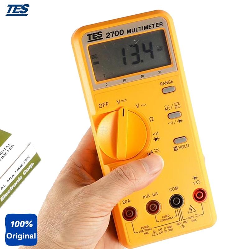 Inductance, Capacitance & Ohm Measurement Tester LCR Multimeter TES-2712 uyigao ua78d digital multimeter resistance capacitance inductance lcr multi meter tester with backlight