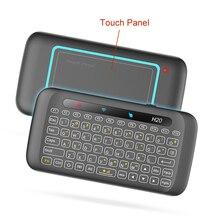 2,4 ГГц Air Мышь Беспроводной клавиатура H20 с подсветкой и полный Экран сенсорная панель для H96 X96 Android ТВ коробка с обучения Функция