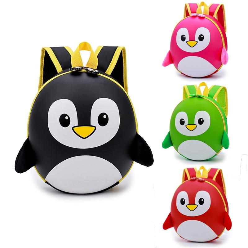 2018 Children Cartoon Penguin School Bags Kindergarten Kids Mini Hard Shell Backpack Waterproof Schoolbags For Boys And Girls