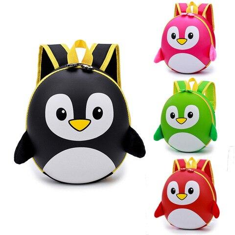 Crianças dos Desenhos Animados do Pinguim Bolsas de Escola do Jardim Jardim de Infância Mochilas para Meninos e Meninas 2018 de Infância Crianças Mini Casca Dura Mochila à Prova d' Água