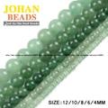 Top quality Natural Stone Green Aventurine jade beads Round Loose bead ball 4/6/8/10/12MM Handmade Jewelry bracelet making DIY