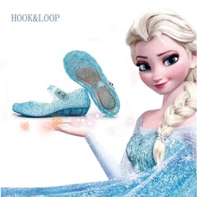 328cosplay costume elsa crystal shoes of Cinderella Slipper for kids anna princess party costume shoes children Chirstmas gift(China)