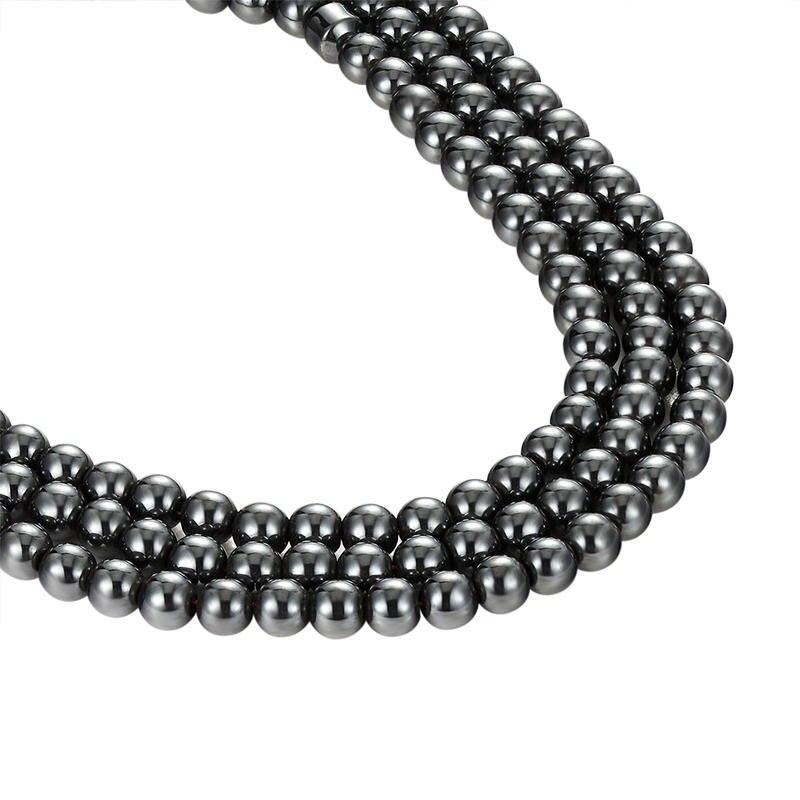 Ливви черный камень свободные шарики diy браслет ожерелье ювелирные аксессуары оптом AS006