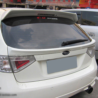For Impreza WRX 10th Rear Middle Lip Spoiler Wing Hatchback 2008 2016 FRP Unpainted