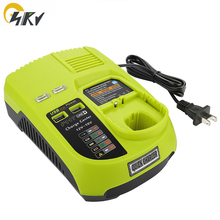 P107 P108 P117 12v-18V Li-ion NIMH charger for RYOBI P103 Lithium NICD power tools battery universal charger with USB 18v 2500mah li ion replacement battery for ryobi rb18l25 one plus for p103 p104 p105 p108 with p117 12 18v charger