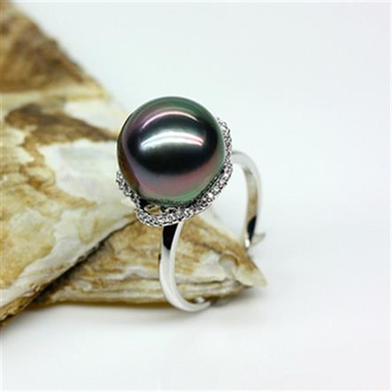 Éternel mariage femmes cadeau mot 925 Sterling réel naturel noir perle d'eau douce perle anneau 12-13MM cercle à la mode fem