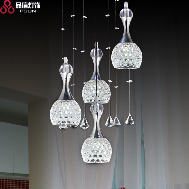 Modern Fashion Wine Glass Pendant Light Led Light Meal