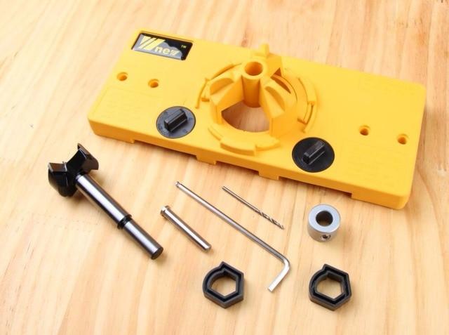 1 Set 35mm Hinge Jf1284 Drill Guide Carpentry Tools Diy Tools In