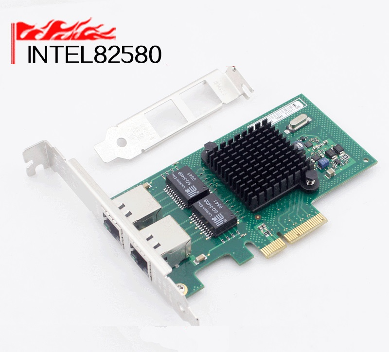 все цены на  New 2016  82580 ROS Soft Route  Double Ports Server Adapter  PCI-E Network Card 1000Mbps 2 x RJ45  онлайн