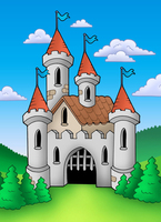 Thin Fabric Cloth Printed Photography Background Children S Castle Backdrop 5ft X 7ft D 739