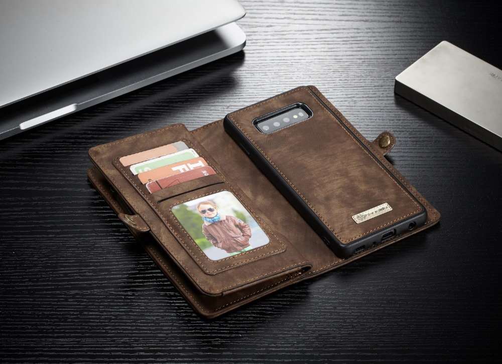 Business Leather Magnetic Wallet Case For Samsung Galaxy S10 Plus S10 Case Luxury For Galaxy S10E S10 Lite Flip Cover