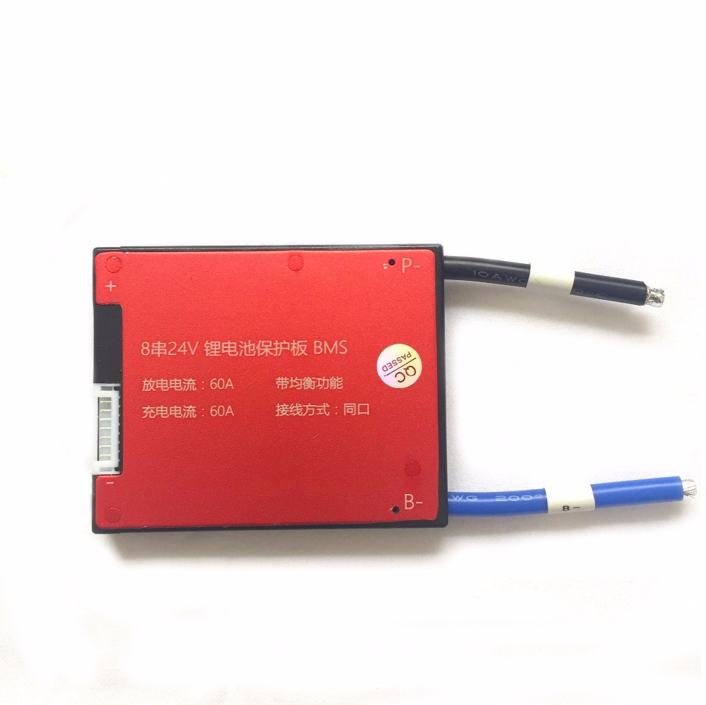 8S 24V 18A 25A 35A 45A 60A Battery Management System PCM PCB BMS for 18650 Lithium Ion Battery Pack Same Port lto battery bms 5s 12v 80a 100a 200a lithium titanate battery circuit protection board bms pcm for lto battery pack same port