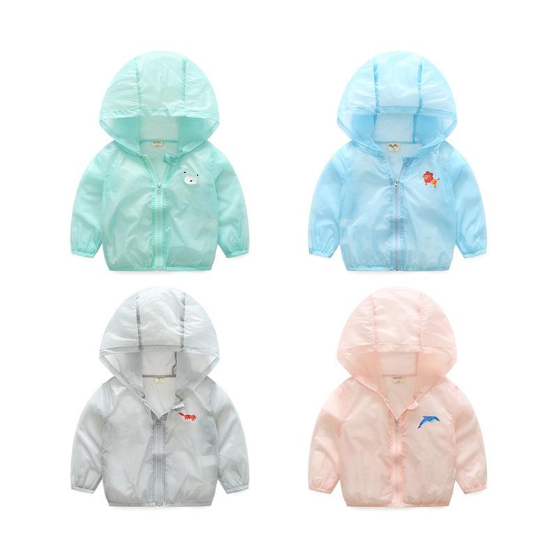 2017 new summer kids Sunscreen clothes boys girls cool hoodies sweatshirts Comfortable Ultrathin rash guards baby Toddler tops