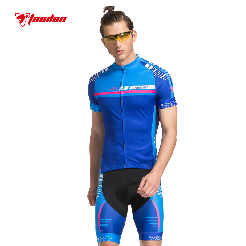 Tasdan New Men Cycling Jersey Sets Bicycle Bike Wear Cycling Sportswear Cycling Clothings Summer Shorts Quick