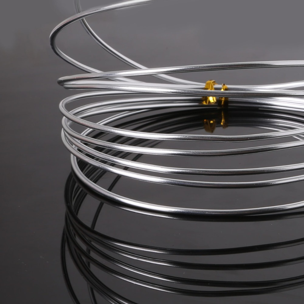 Online Shop 2.0mm silver color anadized aluminum wire coil 3m/roll ...