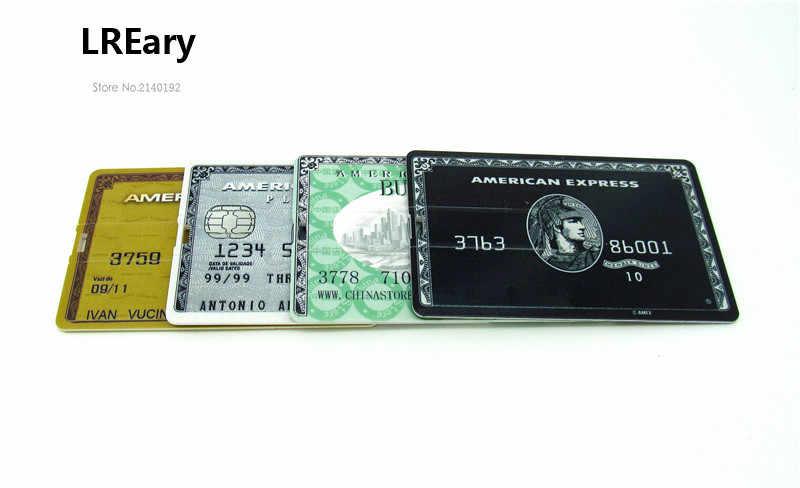 100% 実容量ゴールド/ブラック/グリーン/グレークレジットカードアメリカ express カード USB フラッシュドライブペンドライブ 4GB8GB16GB32GB u ディスクペンドライブ