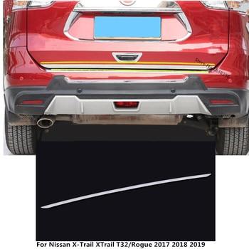 Porta in Acciaio Inox Posteriore Licenza Portellone Paraurti Cornice Targa Della Lampada del Tronco Per Nissan X-Trail XTrail T32/Rogue 2017 2018 2019 2020 GZLeap Autoparts Store