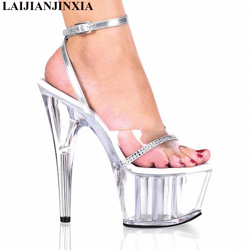 LAIJIANJINXIA New Rhinestones Glitter Sandals Womans Luxury Shoes Runway Shoes Woman 2018 Custom Color Open Toe 15cm High HeelsLAIJIANJINXIA New Rhinestones Glitter Sandals Womans Luxury Shoes Runway Shoes Woman 2018 Custom Color Open Toe 15cm High Heels