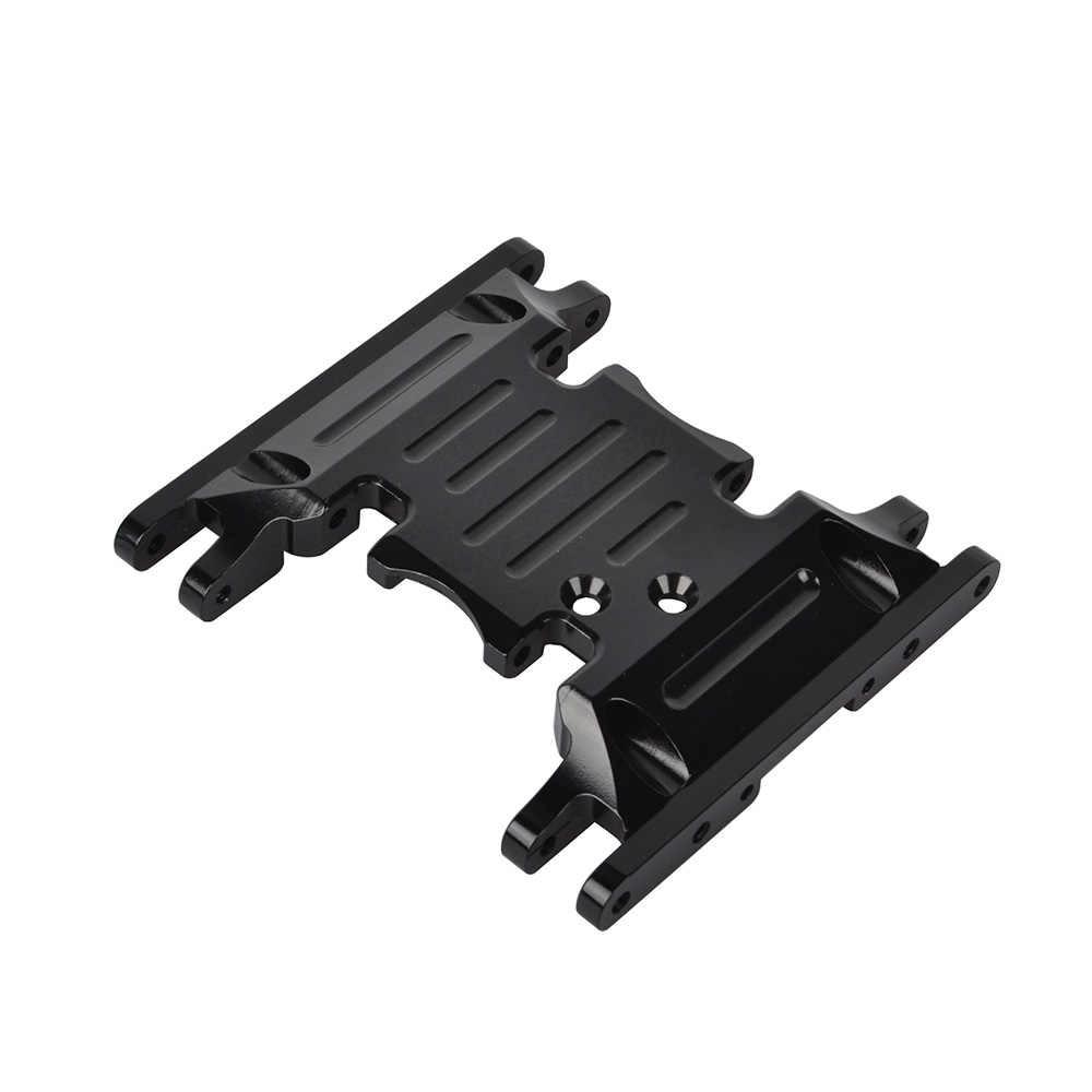 1 piezas RC 1/10 aleación de aluminio CNC de SCX10 II de caja inferior de soporte titular de montaje para el Axial SCX10 II 1/10, 90046 90047 Rc rastreadores