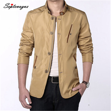 Mens Casual Business Slim Fit Zipper Single-breasted Stand Collar Personality Fashion Jacket Spring Autumn Winter Coats & Jacket stand collar half breasted mens tee