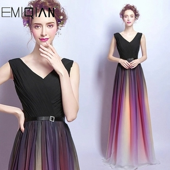 Elegant Evening Dress Long 2019 Beaded Embroidery Banquet Party Dress Stunning Prom Dresses Robe De Soiree vestido de festa