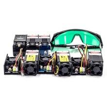 Лазерный модуль для ЧПУ древесины маршрутизатор 1 Вт 2,5 Вт 5,5 Вт 7 Вт 10 Вт мини лазерная гравировка машина DIY гравер запчасти ЧПУ 3018 2418 1610 3018pro