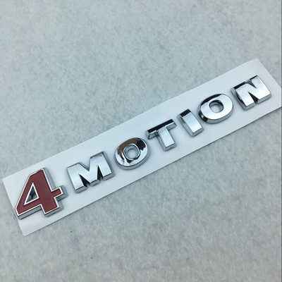 New 3D Metal 4MOTION Car Side Body Trunk Emblem Badge Sticker Decal Silver+Black
