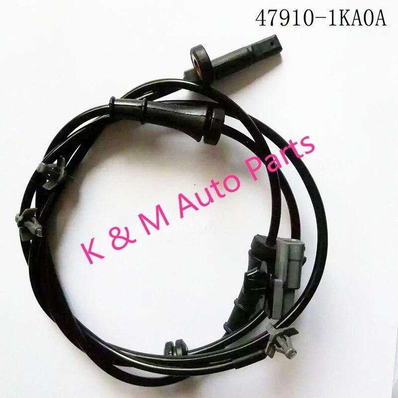 47910-1KA0A New ABS Wheel Speed Sensor OEM 47910-1KA0A FOR Nissan Juke ABS SENSOR T-0-P