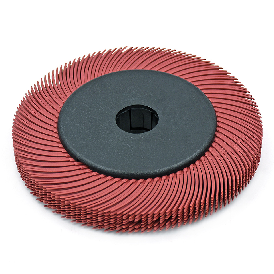10pcs 6 Abrasive Tools Radial Bristle Brush With Hub For Metal Polishing Bench Grinder Accessories Power Tools Grit 80 1000#