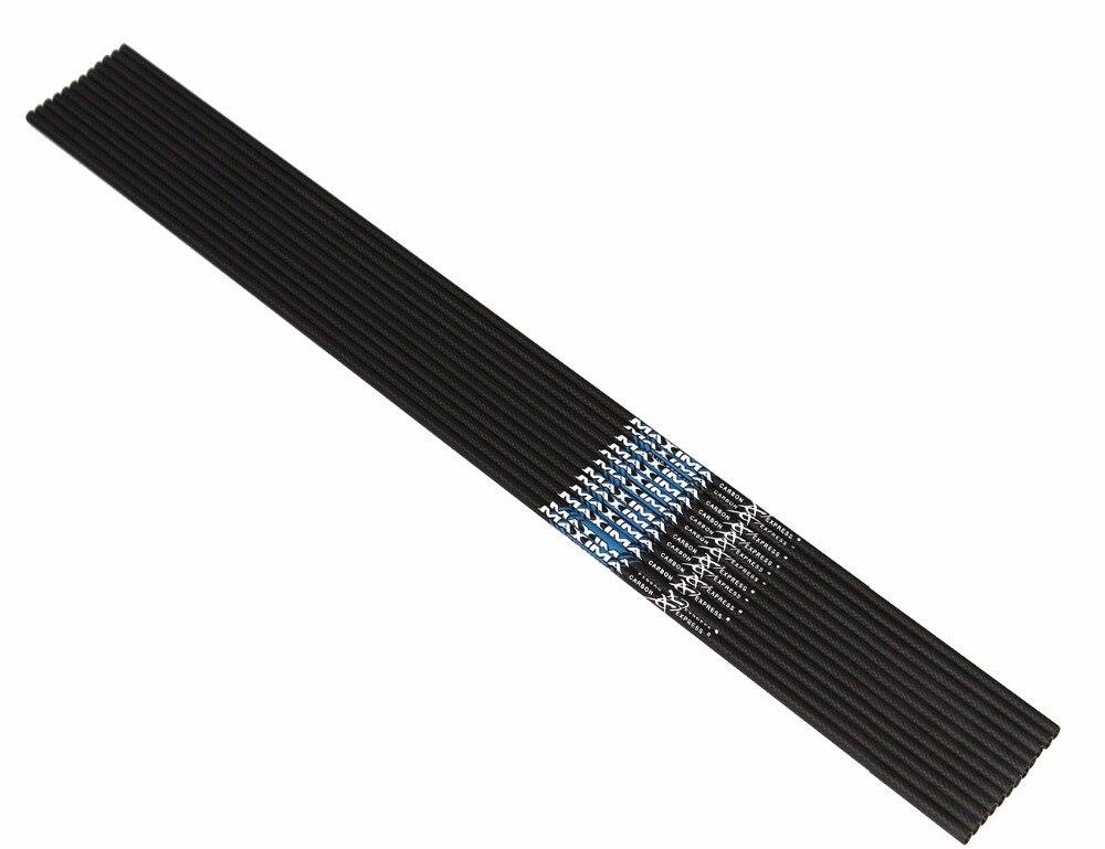 12pcs carbon express arrow shafts 3K weave sp340 400 500 ID6.2mm compound bow
