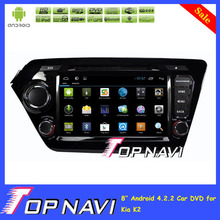 """Double 2 Din Pure Android 4.2 car dvd for Kia K2 Rio with GPS Wifi 3G 8"""" HD Screen Free Map +Camera"""