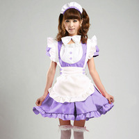 New Sexy Sweet Gothic Lolita Dress French Maid Costume Anime Cosplay Sissy Maid Uniform Plus Halloween Costumes For Women M XL