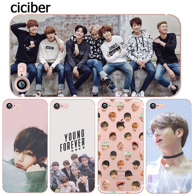 BTS Korea Bangtan Boys Young Forever Phone Case for iphone 7 8 6 6S PLUS 5S SE Soft Silicone Cover for iPhone X XS Max XR Funda