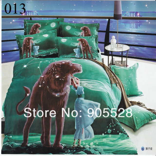 2013 100% quality luxury 3D Reactive printing comforter bedding sets king size cotton King/Full noble duvet cover set /bed sheet