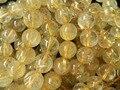 Freeshipping (16 unids/set) natural rutilado cuarzo 12.5-13.5mm cuentas de cristal redondo de alta qualiry