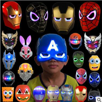 Children LED Glowing Superhero Masks