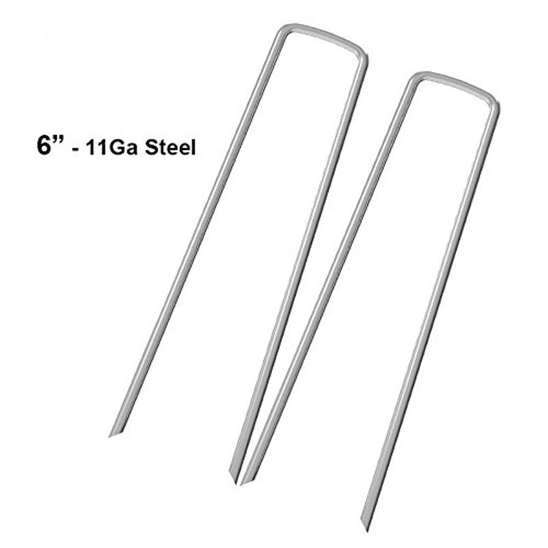 Strict New Garden Pegs 100x3.0mm X 6 Inch /150mm Galvanized Landscape Ground Staples, Rust Resistant Steel Sod Lawn U Pins - Securing Latest Technology