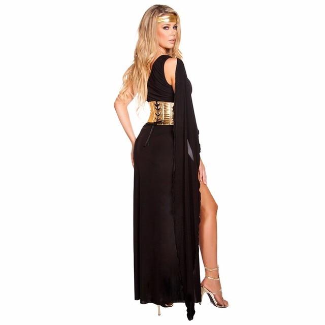 Volwassen Sexy Egyptische Koningin Cleopatra Kostuum Vrouwen Halloween Kostuums Cosplay Maskerade Feestjurk