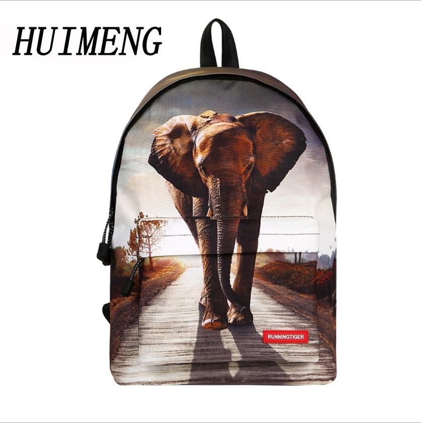HUIMENG Backpack Elephant Tiger Pony Bag Children Animals School Bags Backpack For Teenagers Boys Backpacks Mochila