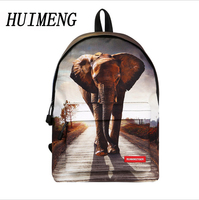 HUIMENG Backpack Elephant Tiger Pony Bag Children Animals School Bags Backpack For Teenagers Boys Backpacks Mochila